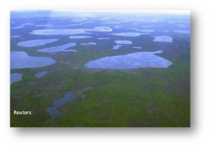 Melting Lakes in Siberia, Reuters